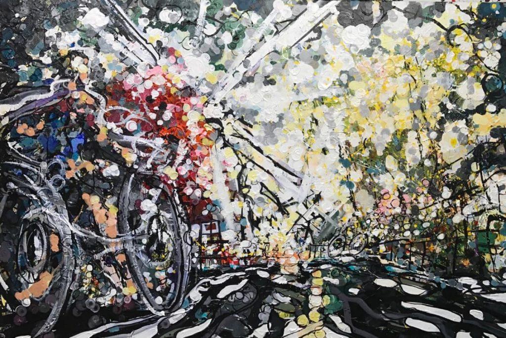 Windmill 150x100cm - Acrylic on canvas. Available