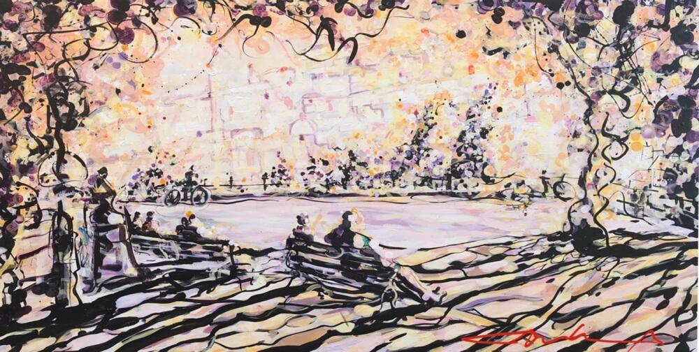 Light Sunday morning 200x120 cm - Acrylic on canvas