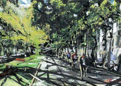 Light and Liberty Lisbon 2000 x100 cm - Acrylic on canvas